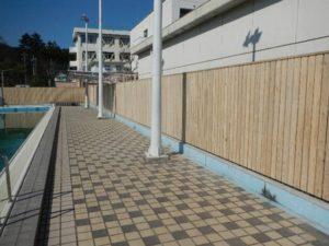 都立高校木塀(東京都)