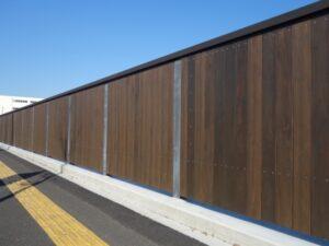 墨田5丁目運動公園の木塀