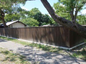 京都御苑、木製板塀、木塀