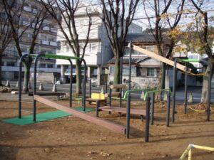 西富田公園、健康器具、健康遊具